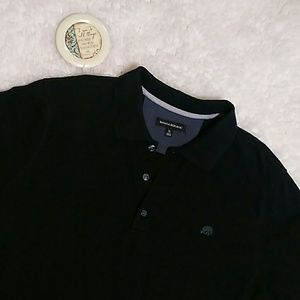BANANA REPUBLIC Black Short Sleeves Polo Shirt XL